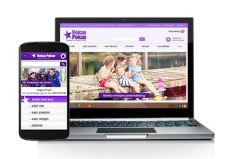 gewone en mobiele webshop