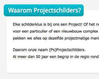 Projectschilders