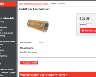 Martin Willems Webshop