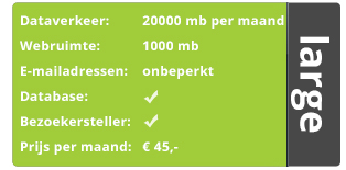 large hosting pakket